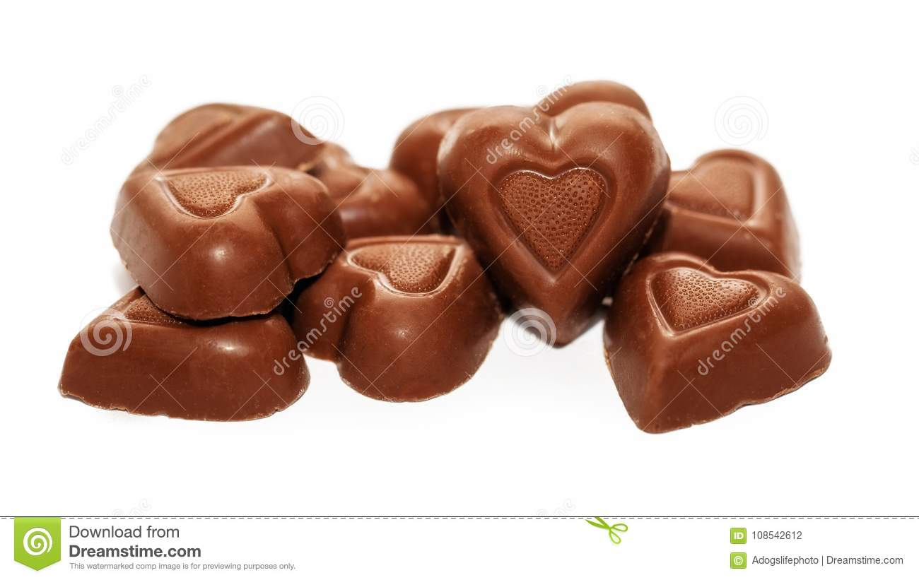 Chocolate Heart Valentines Day Candy Stock Photo Image Of Shaped