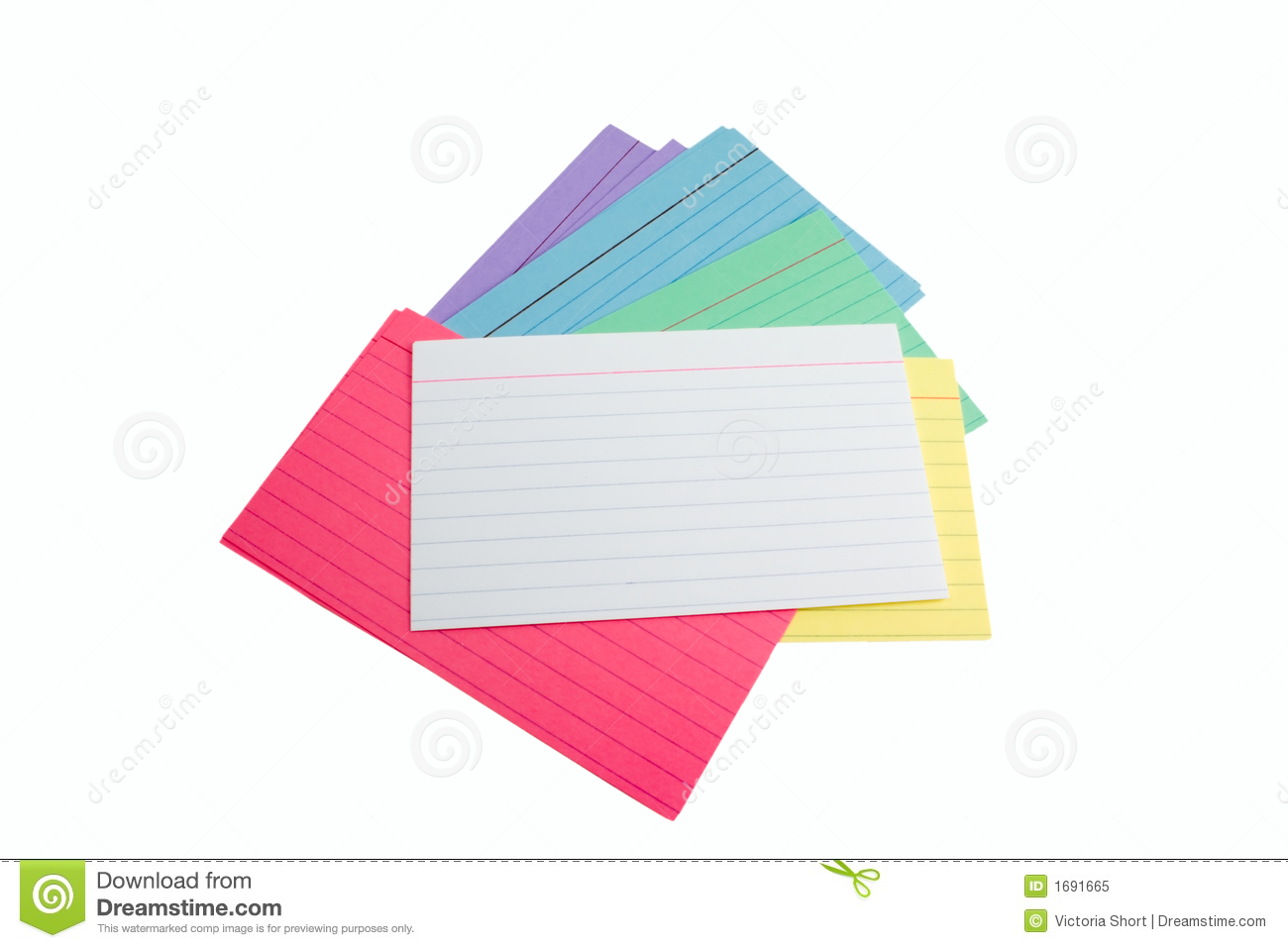 Pile Of Index Cards Royalty Free Stock Photo - Image: 1691665