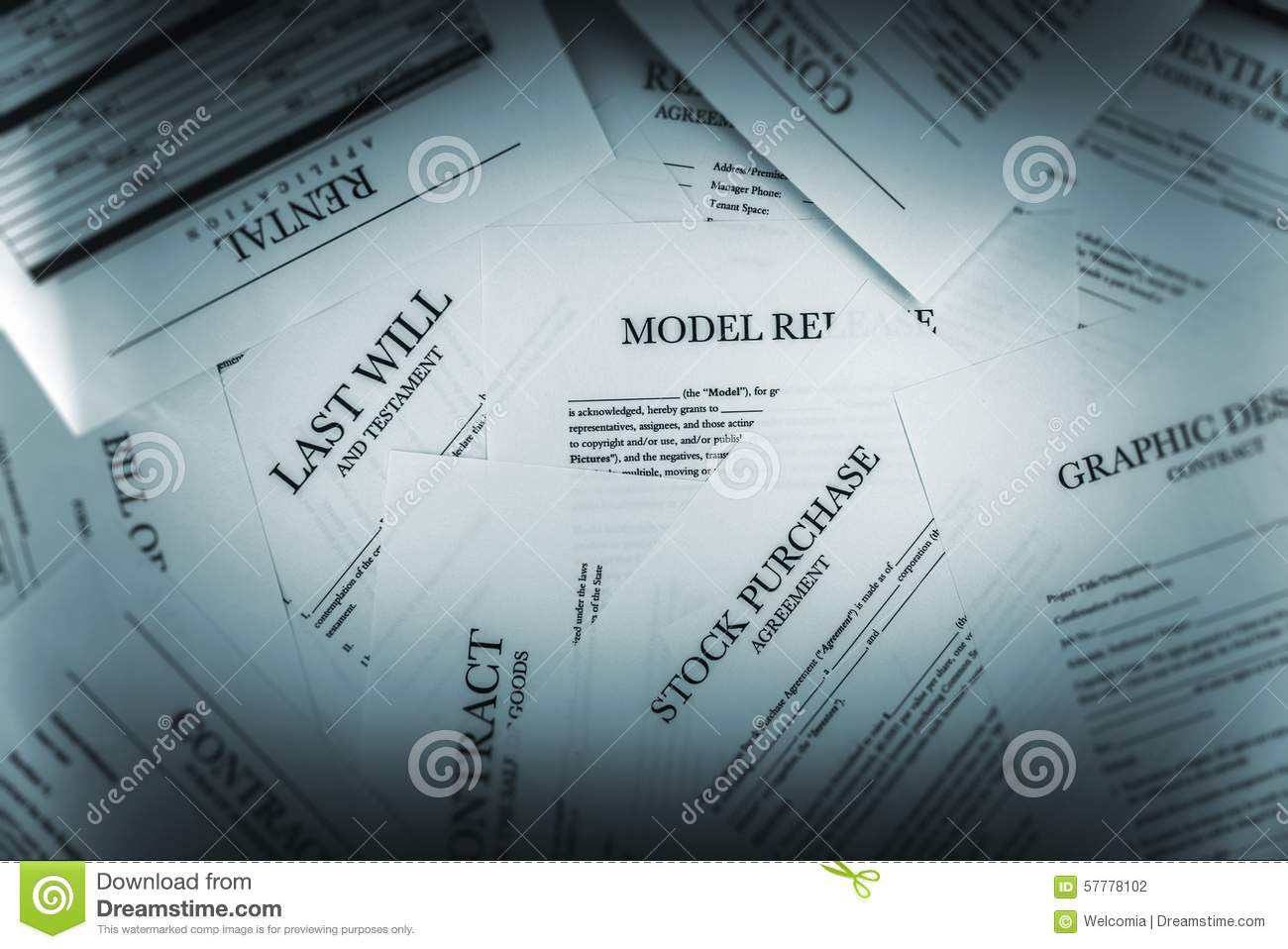Pile Of Legal Documents Stock Photo - Image: 57778102