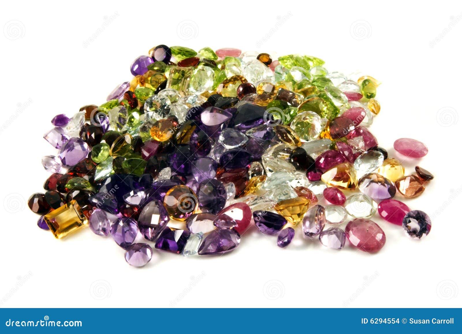 Pile Of Loose Gemstones Stock Photo Image Of Garnet Ruby