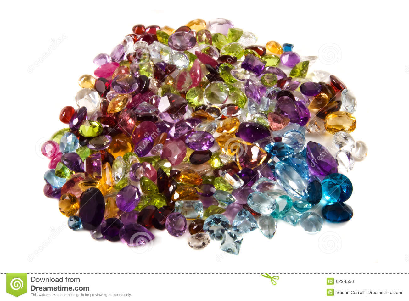Pile Of Loose Gemstones Royalty Free Stock Image Image