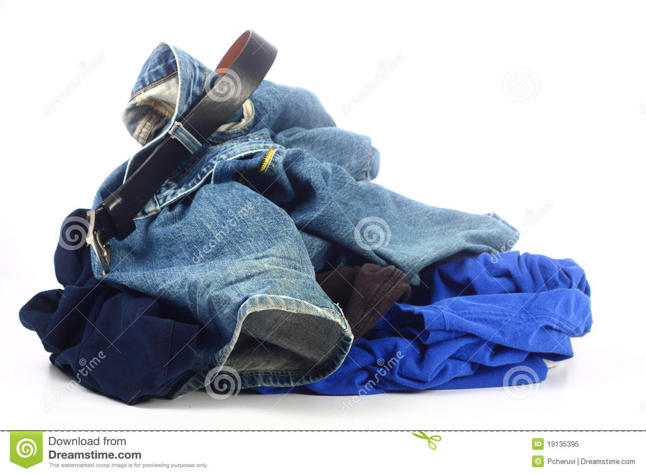 Pile Of Messy Clothes Royalty Free Stock Photo - Image: 19135395