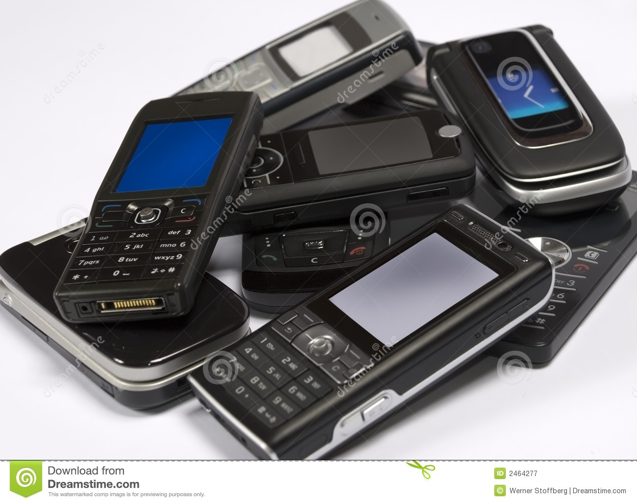 Pile Of Cell Phones : Pile of mobile phones royalty free stock photography