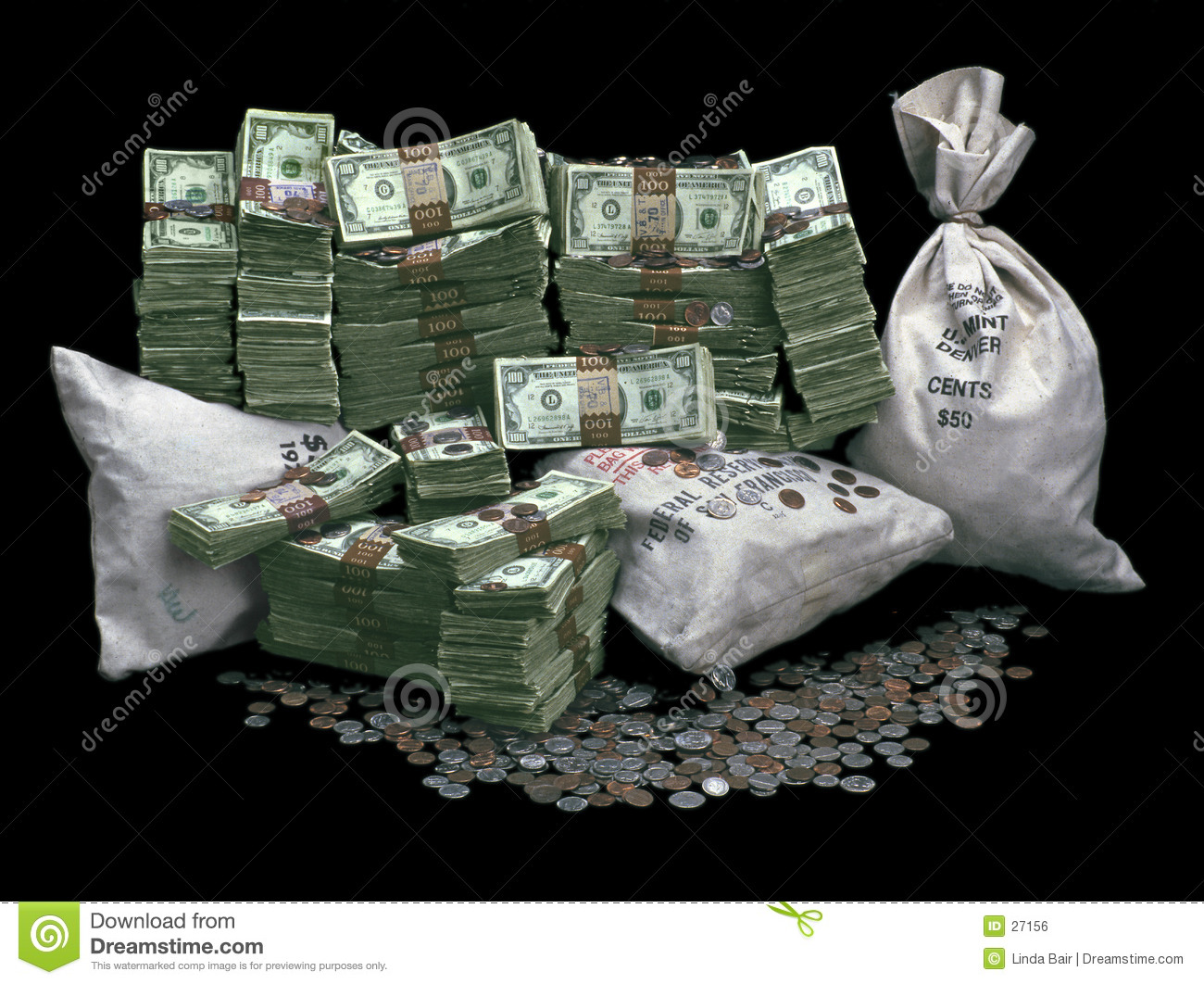 Pile of Money stock photo. Image of investing, coins, bank ...
