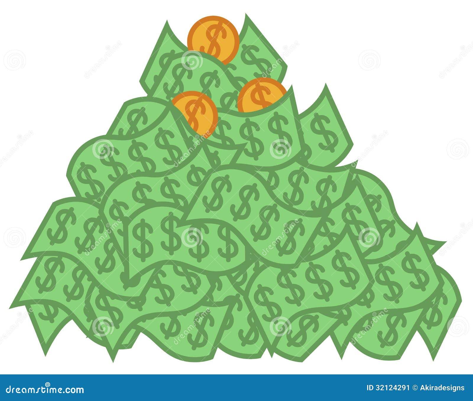 pile of money clipart - photo #6