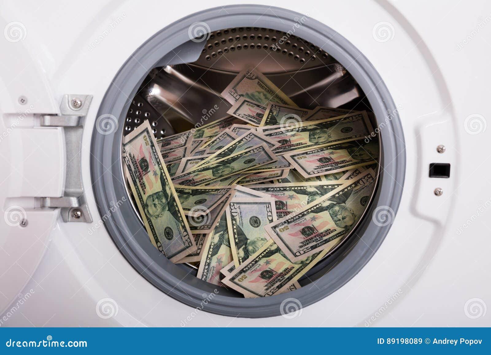 Pile Of Money In Washing Machine