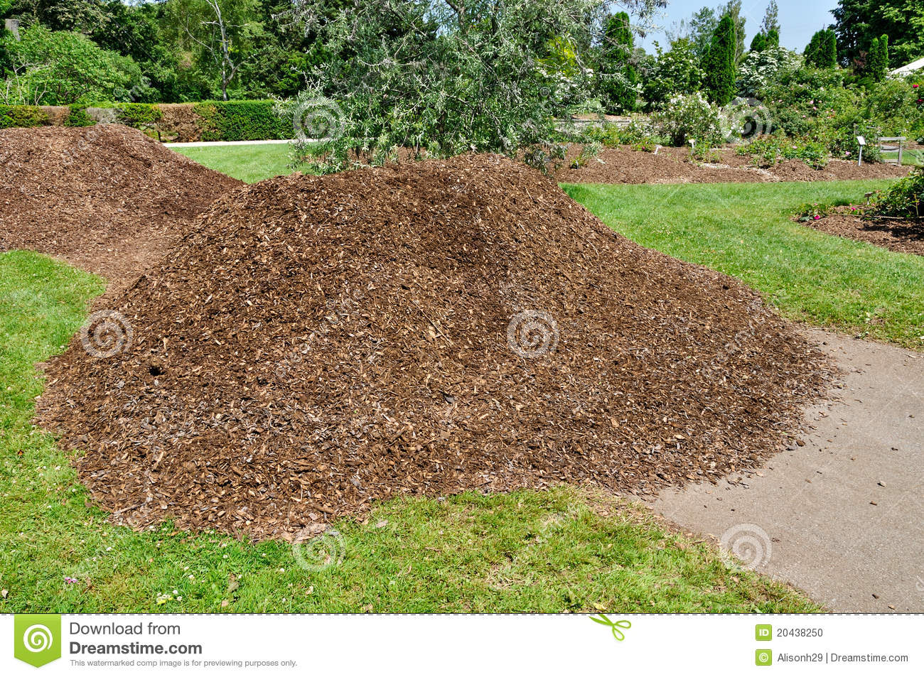 Pile Of Mulch Stock Photo  Image 20438250