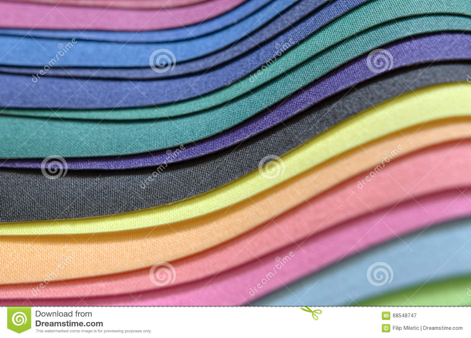 Pile multicolore de tissu