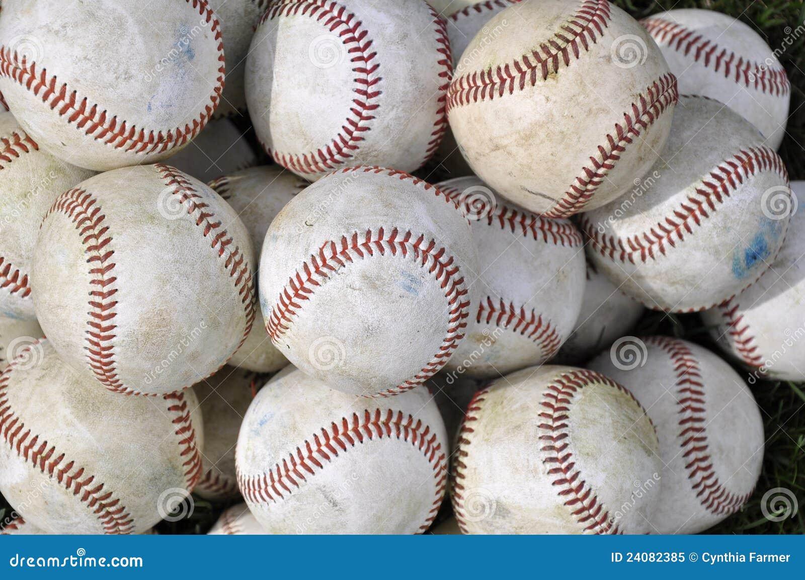 Pile Of Old Baseballs Royalty Free Stock Photo Image