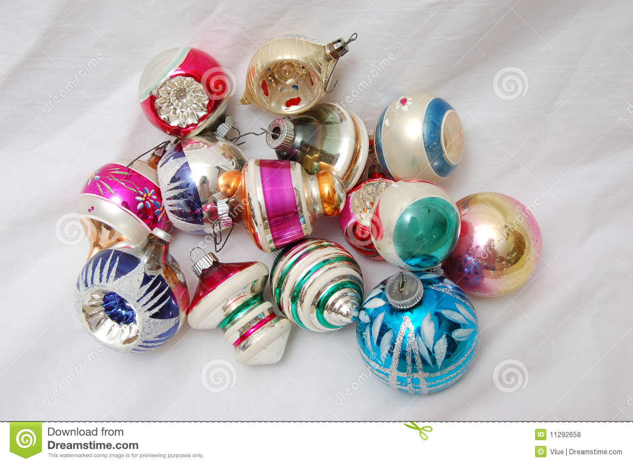 Pile of old christmas tree ornaments stock photo image for What to do with old christmas ornaments