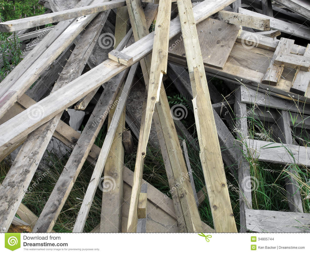 Pile of old discarded boards stock images image