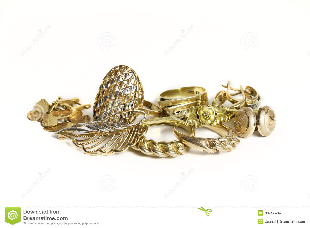 Gold jewellery stock photo. Image of metallic, hallmark - 30214434
