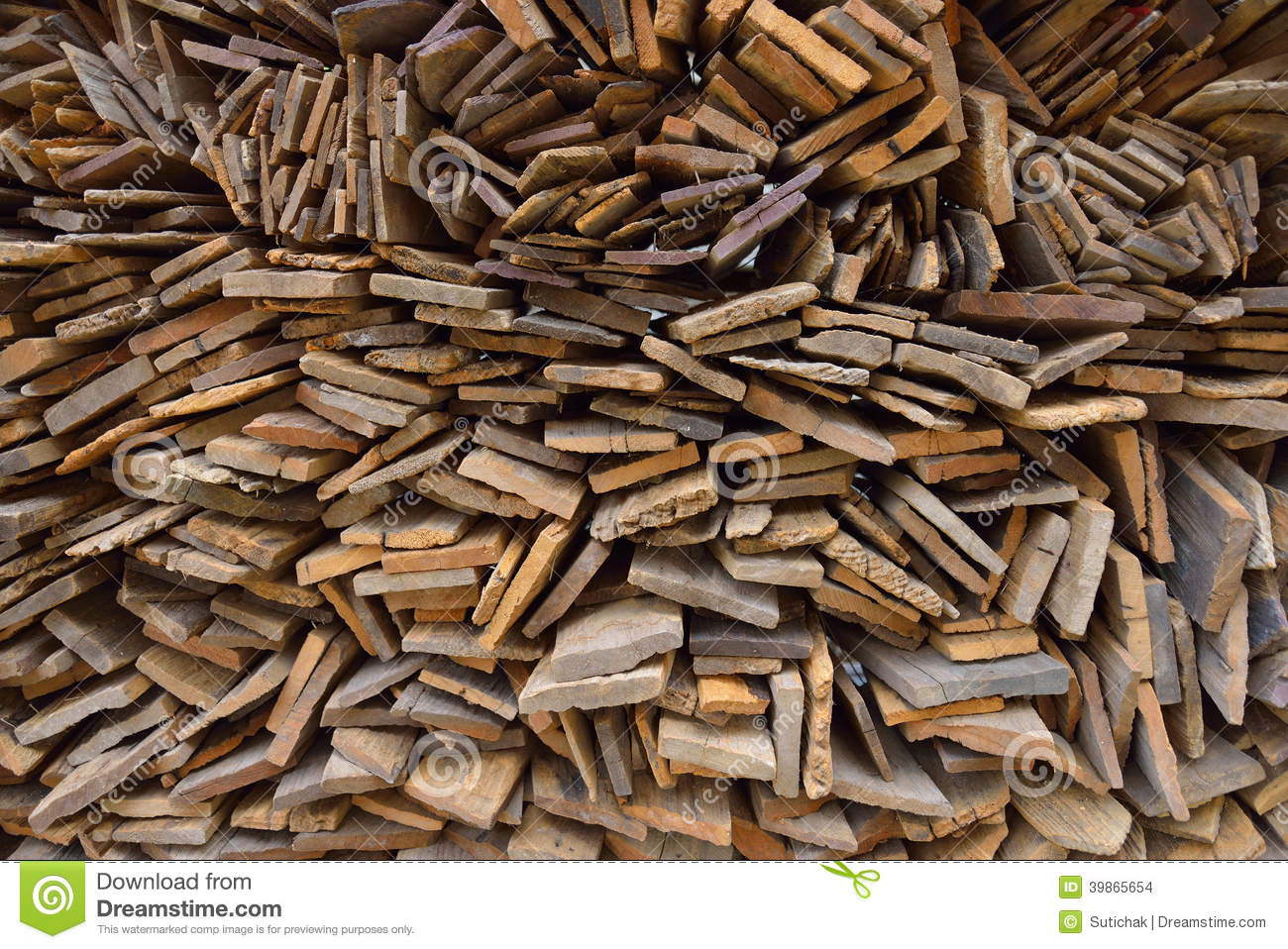 Pile Of Timber : Pile of old wood plank stock photo image