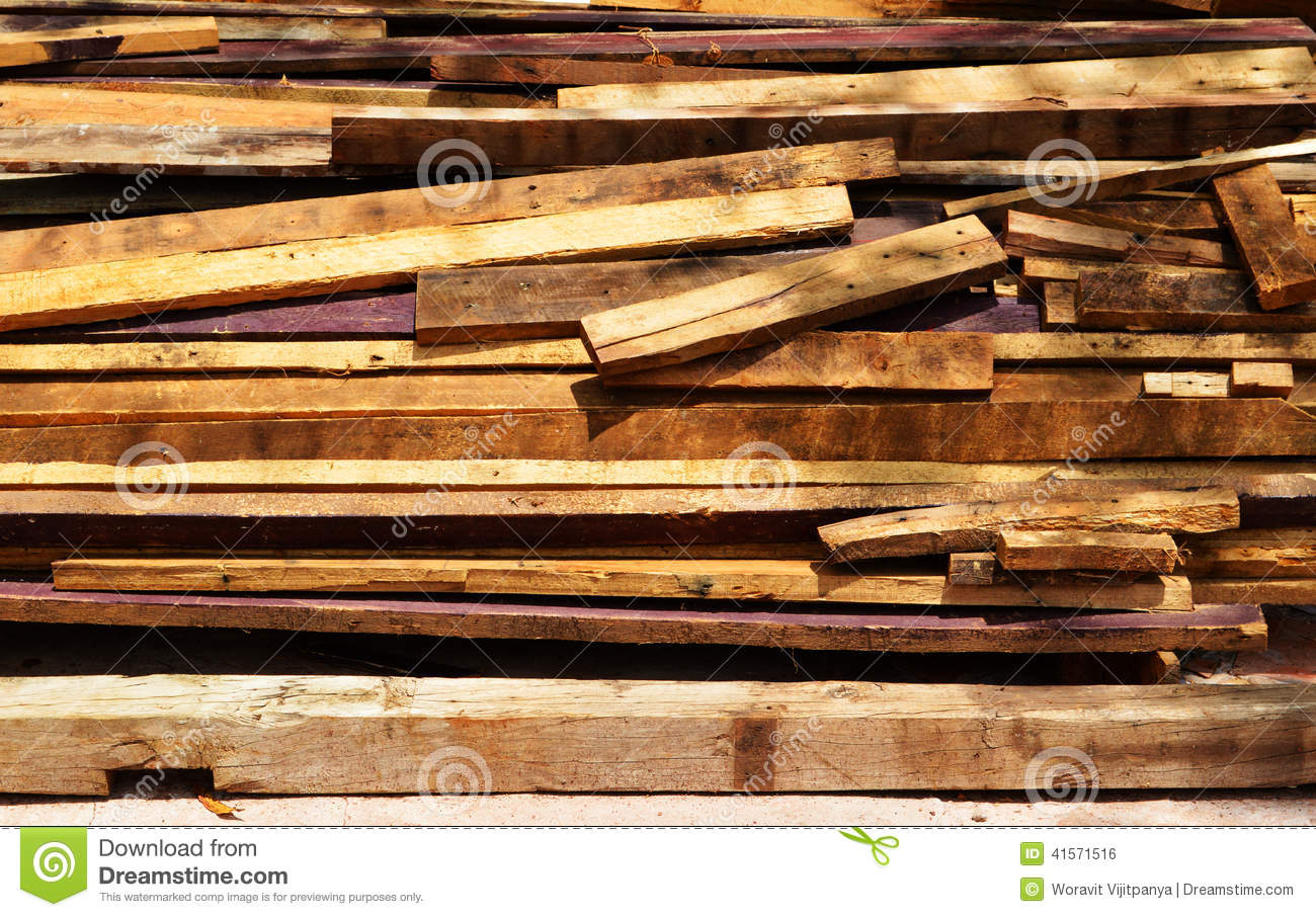 Pile Of Old Wood Plank Stock Photo Image 41571516