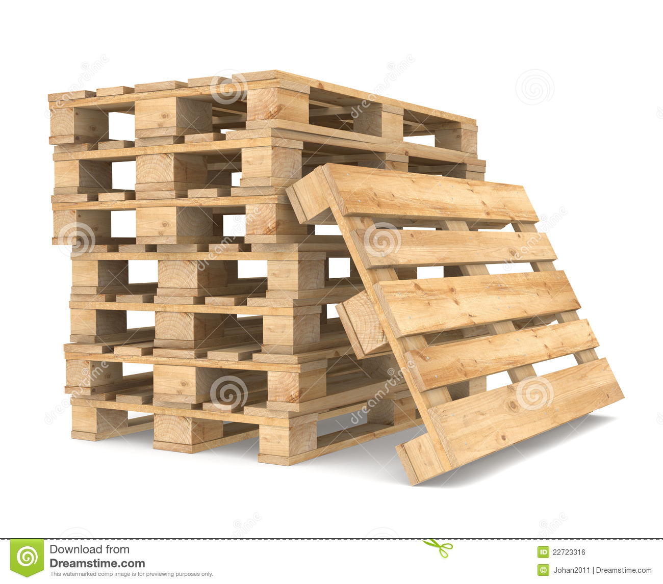Pile Of Pallets Royalty Free Stock Image - Image: 22723316