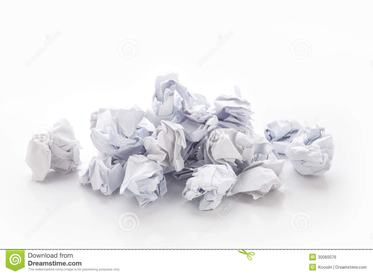 paper ball stock photo. image of recycling, garbage, page - 30060076