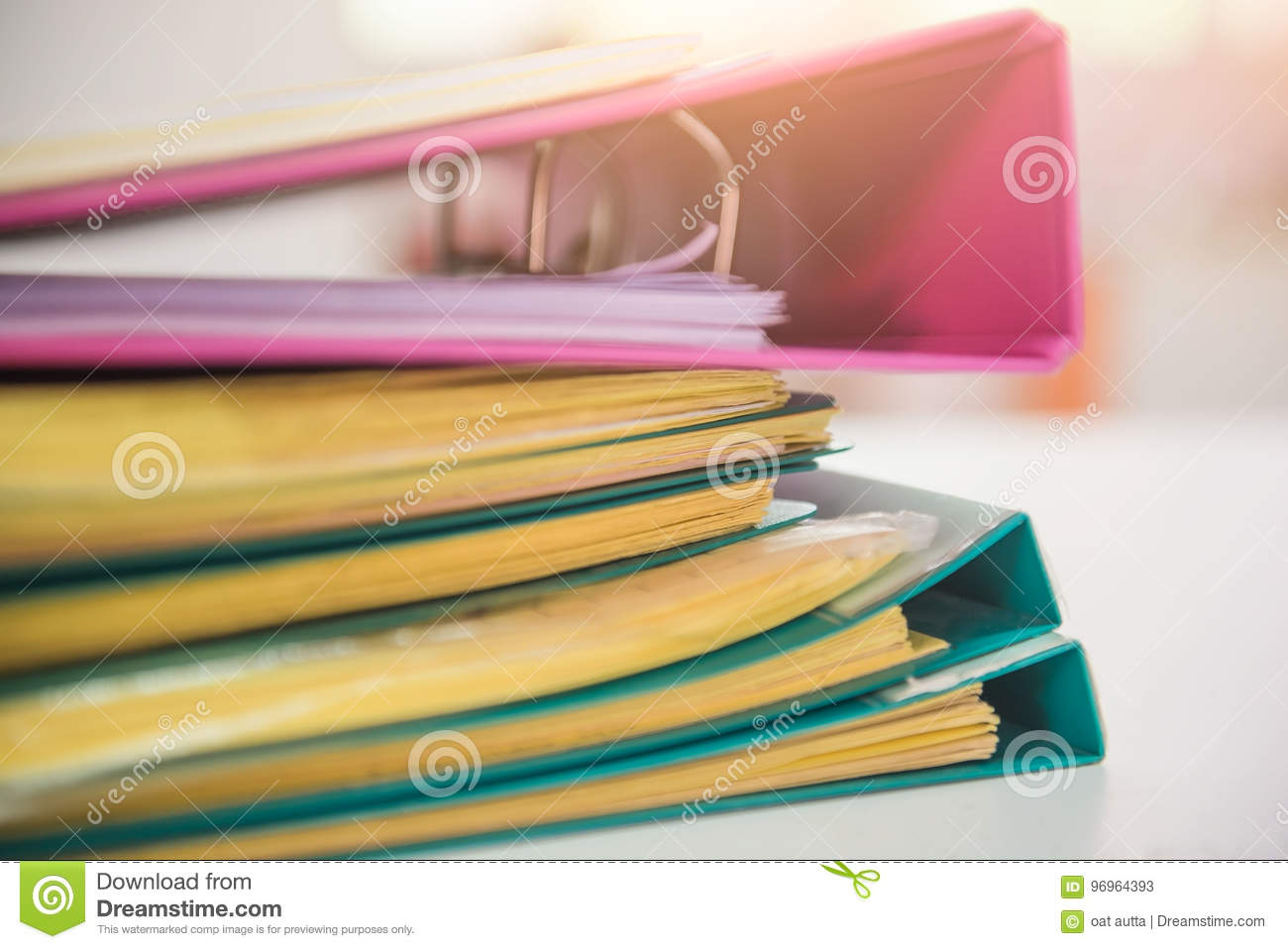desk office file document paper pile of paper files documents on work desk in office business of paper files documents on work desk in office business