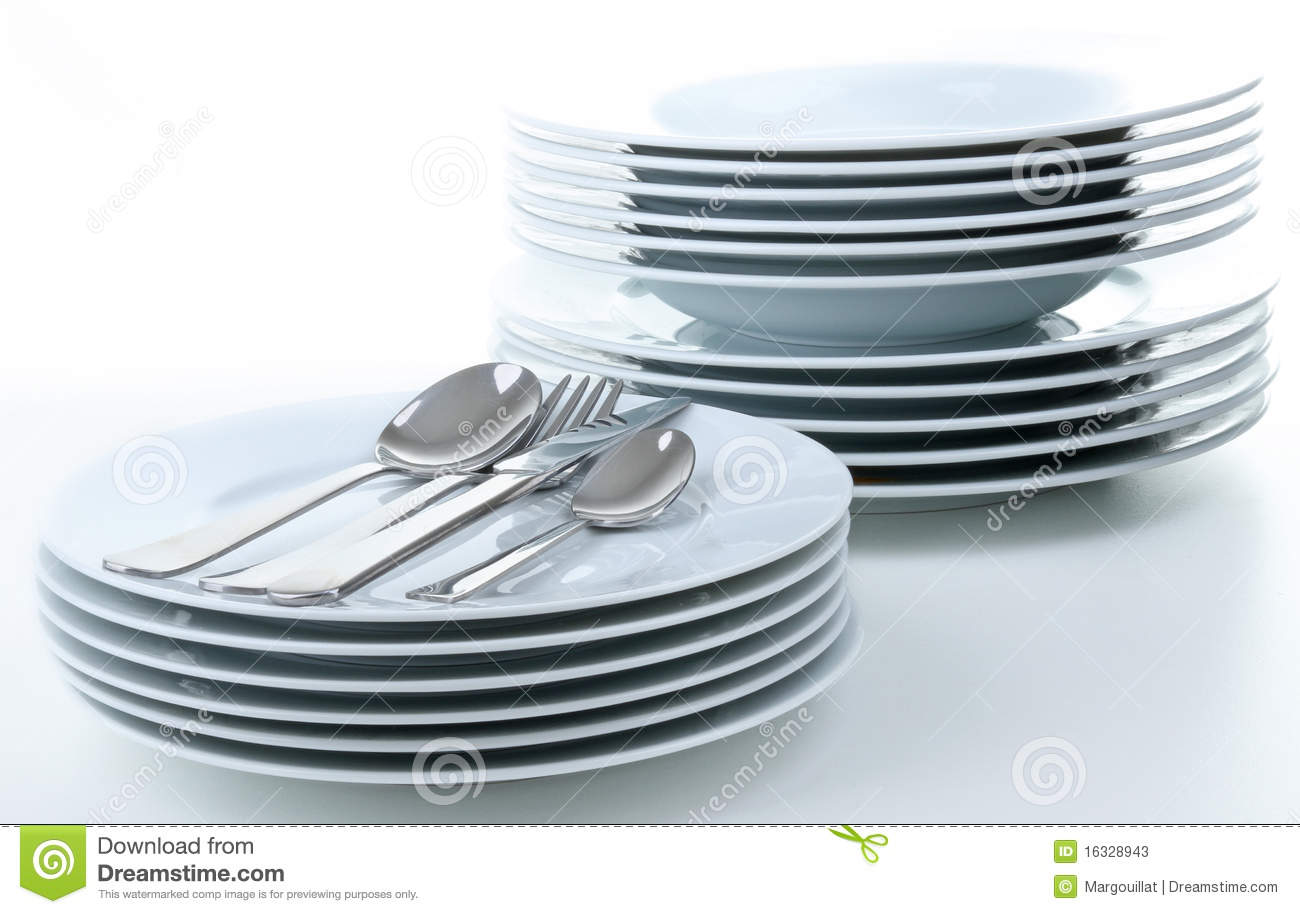 Pile of plate stock photos image 16328943 - Pile plate 3v ...