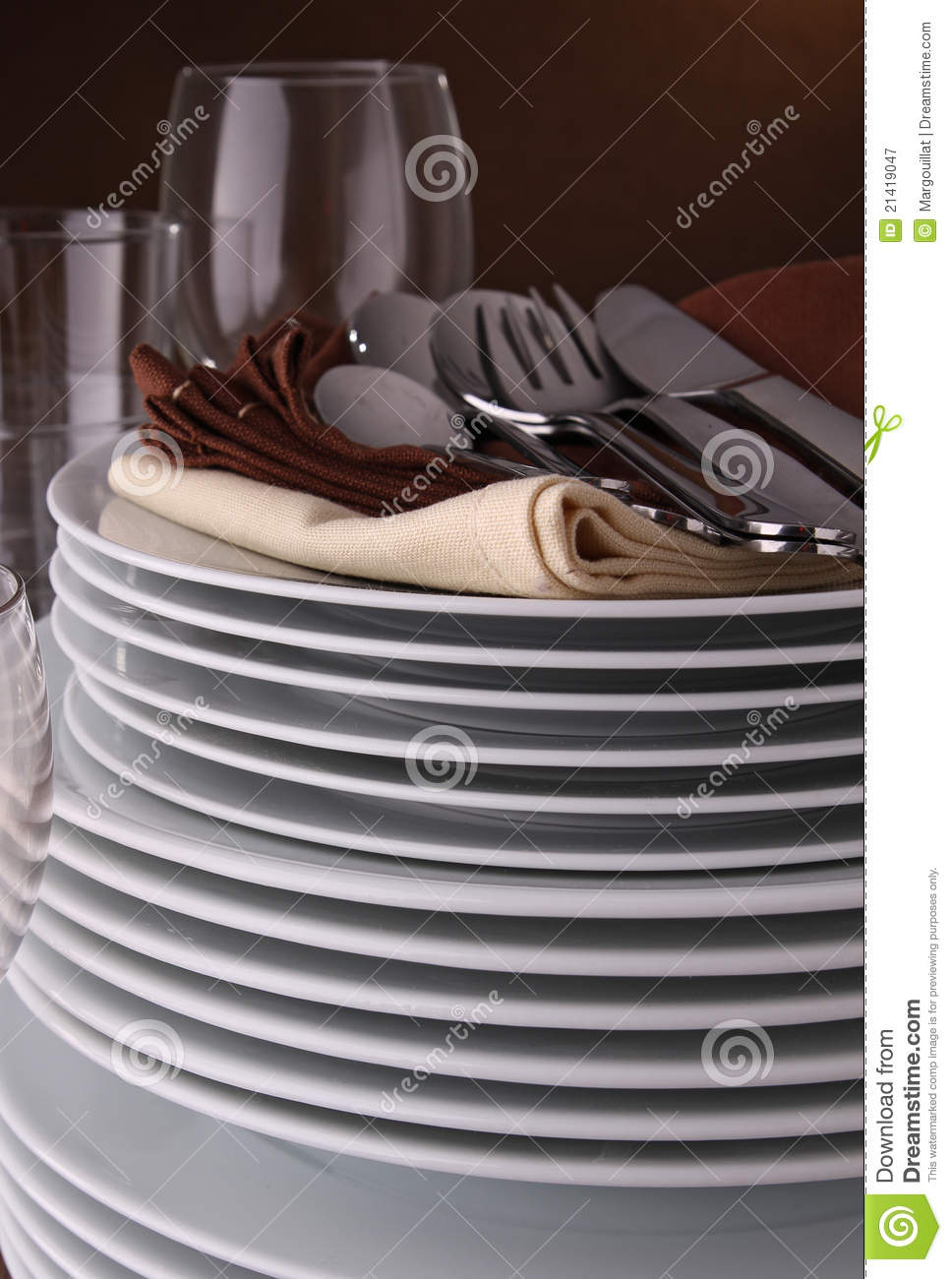 pile of plate and cutlery royalty free stock photography. Black Bedroom Furniture Sets. Home Design Ideas