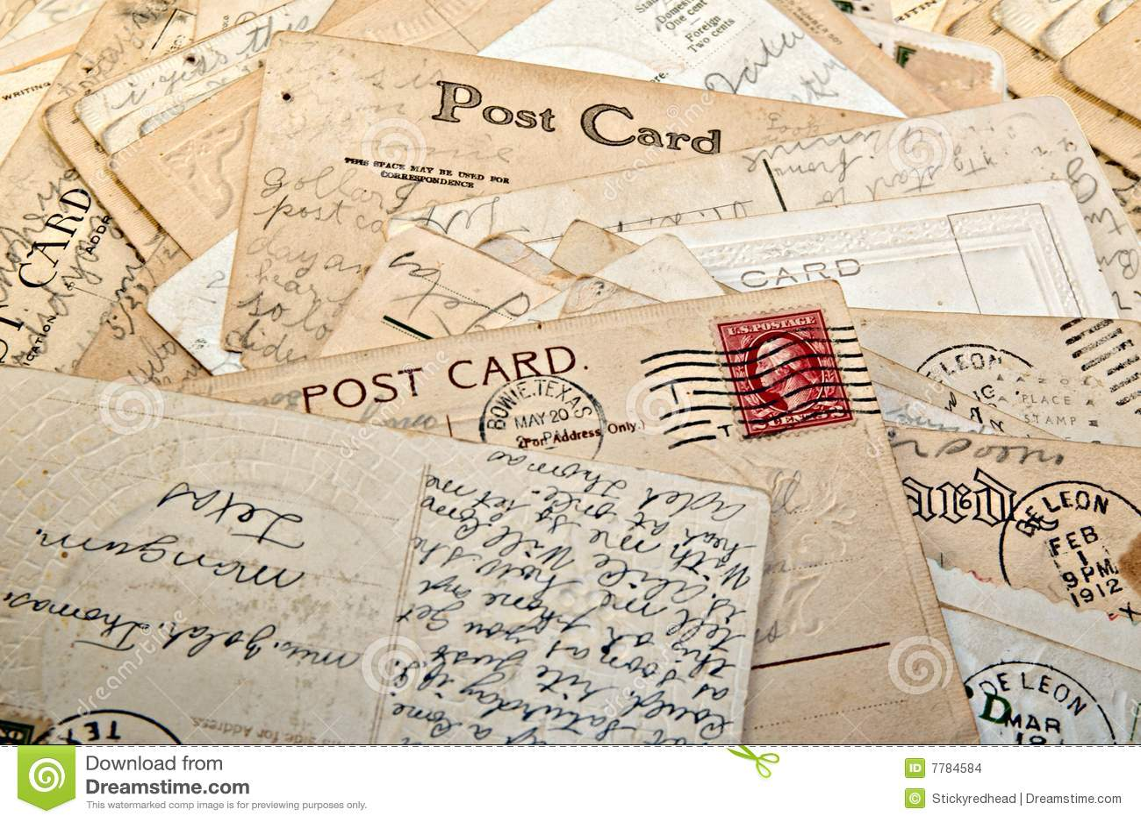 vintage letters postcards photographs - photo #39