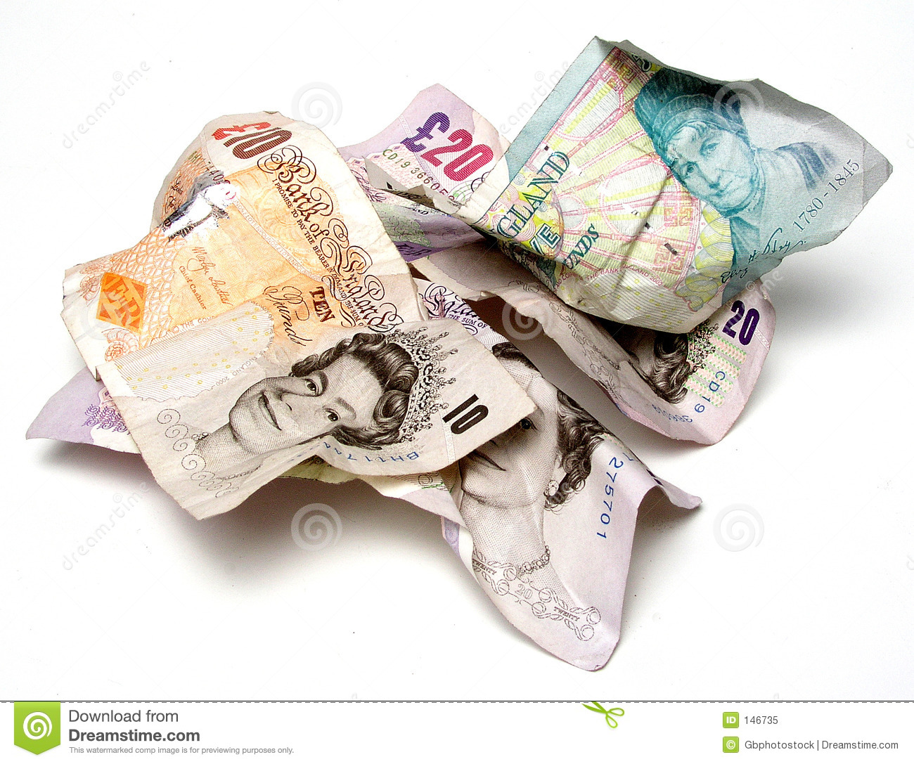 Pile Of Pounds Royalty Free Stock Photo - Image: 146735