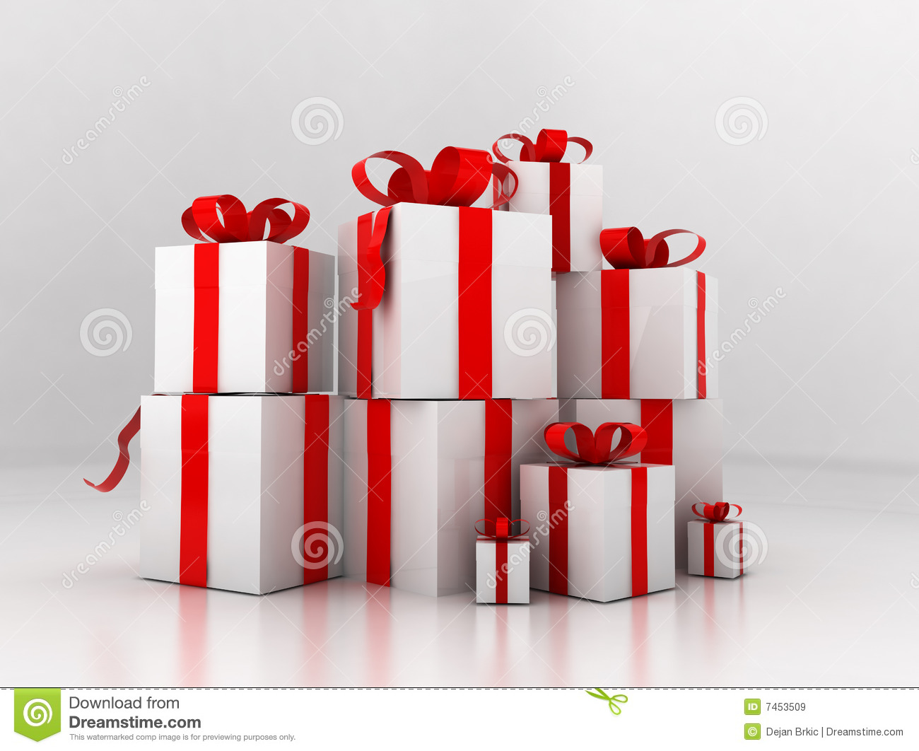 Pile of presents royalty free stock images image 7453509