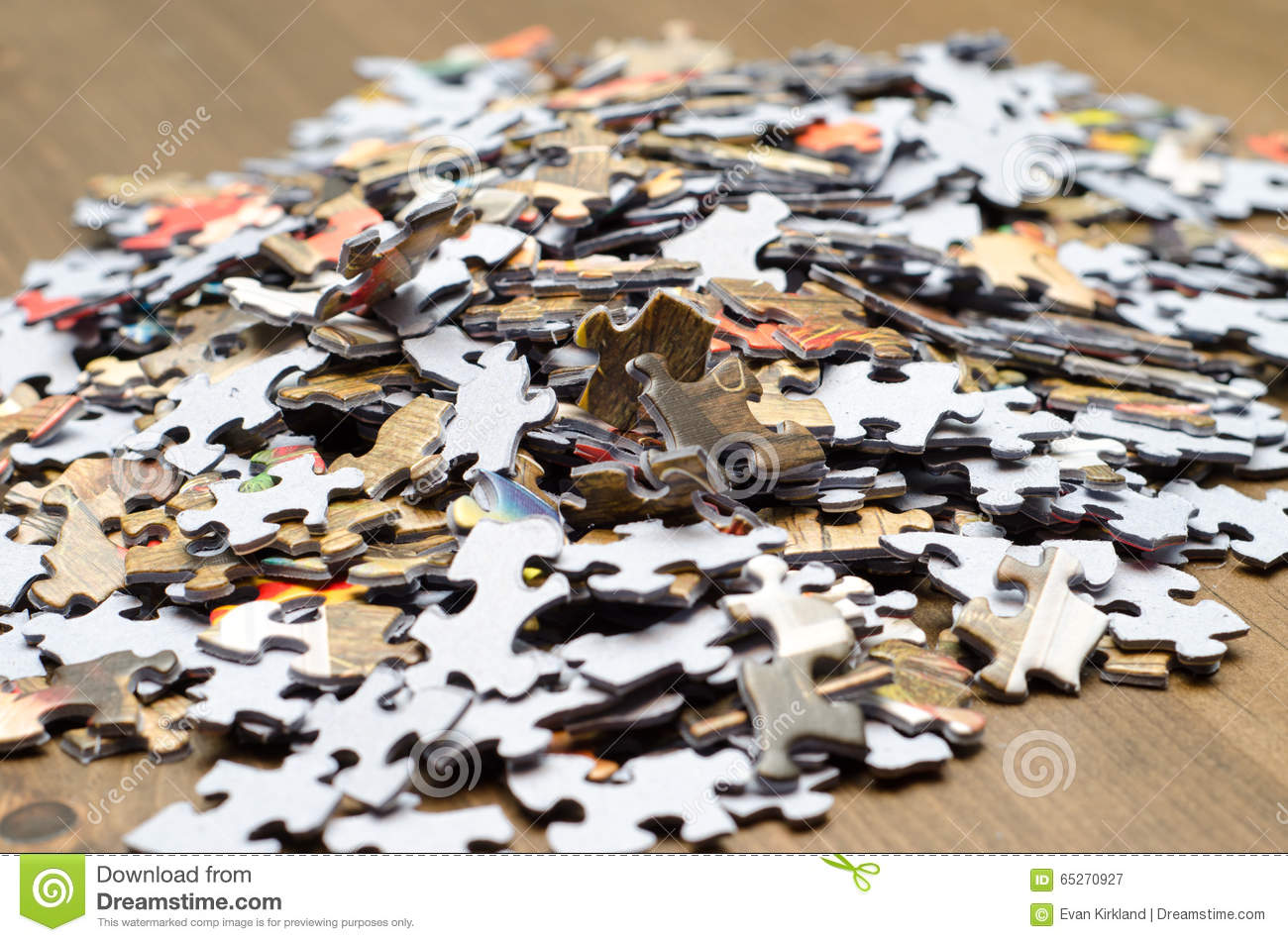 Download A Pile Of Puzzle Pieces Stock Image Recreation