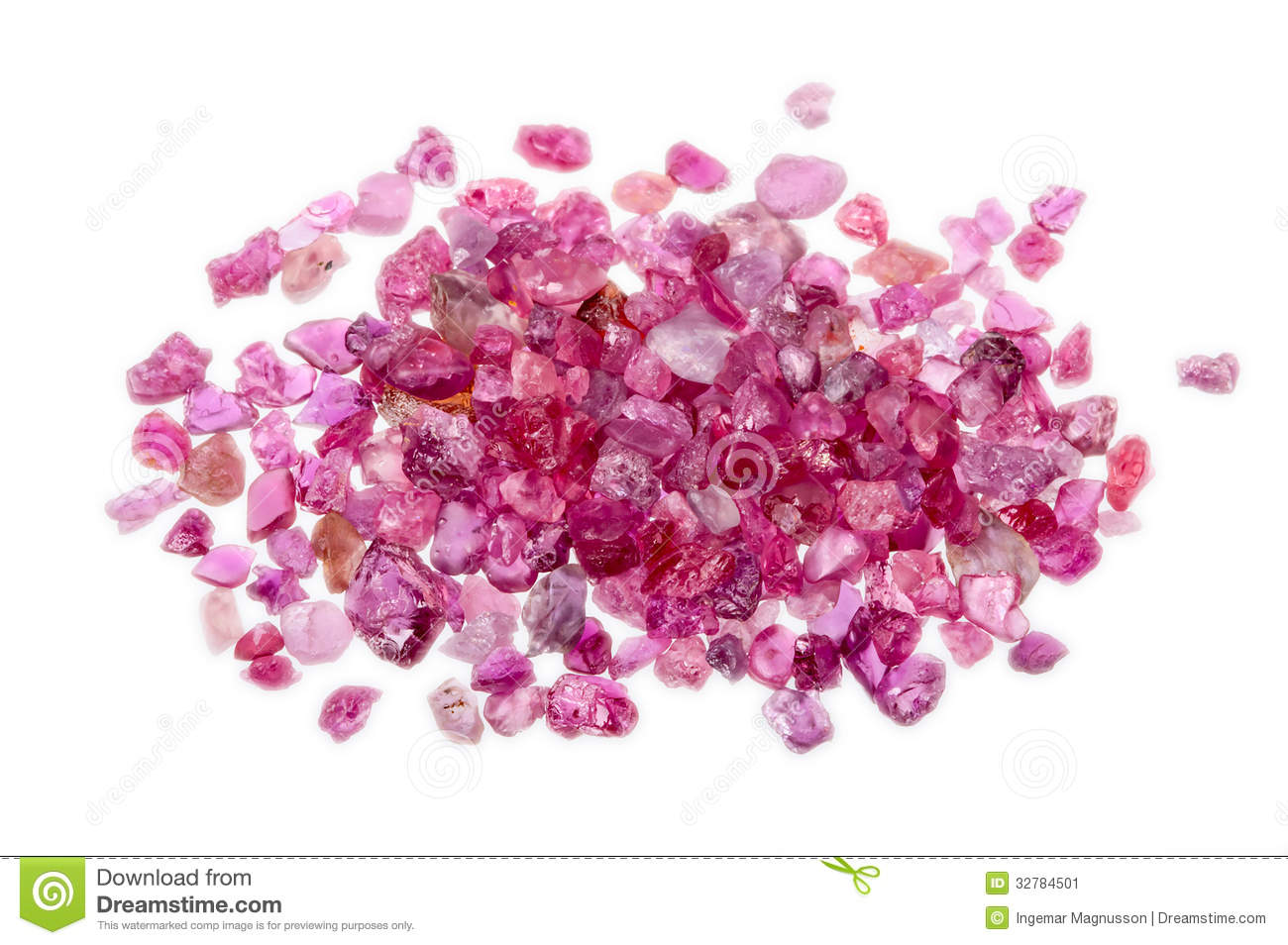 A Pile Of Rough Uncut Pink Red Ruby Stock Image Image