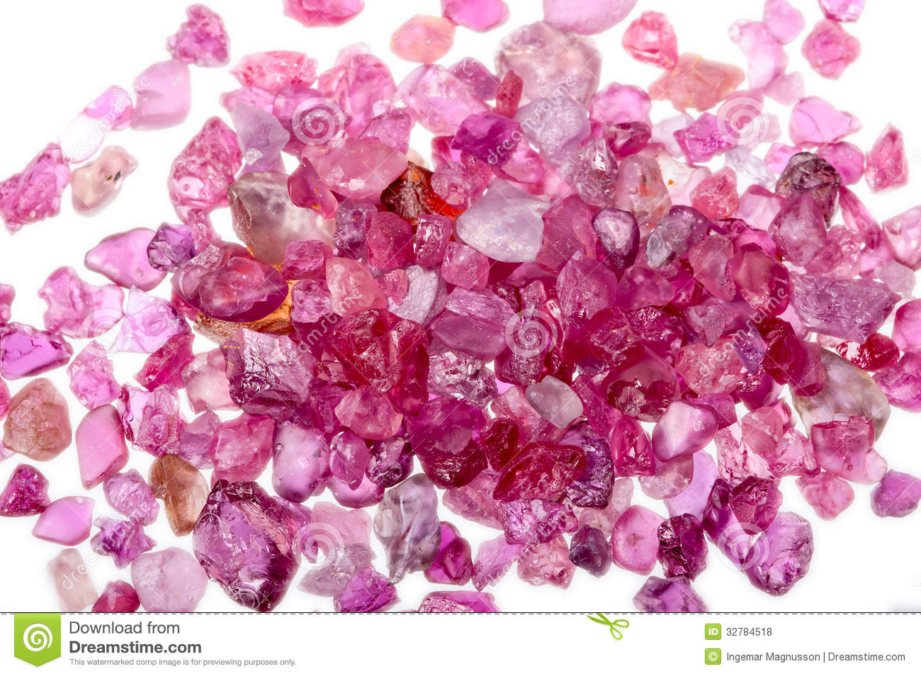 A Pile Of Rough Uncut Pink Red Ruby Royalty Free Stock