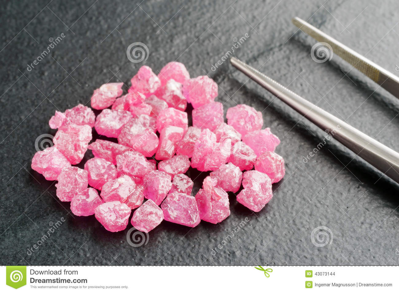 Pile Of Ruby Stock Photo Image Of Material Rock
