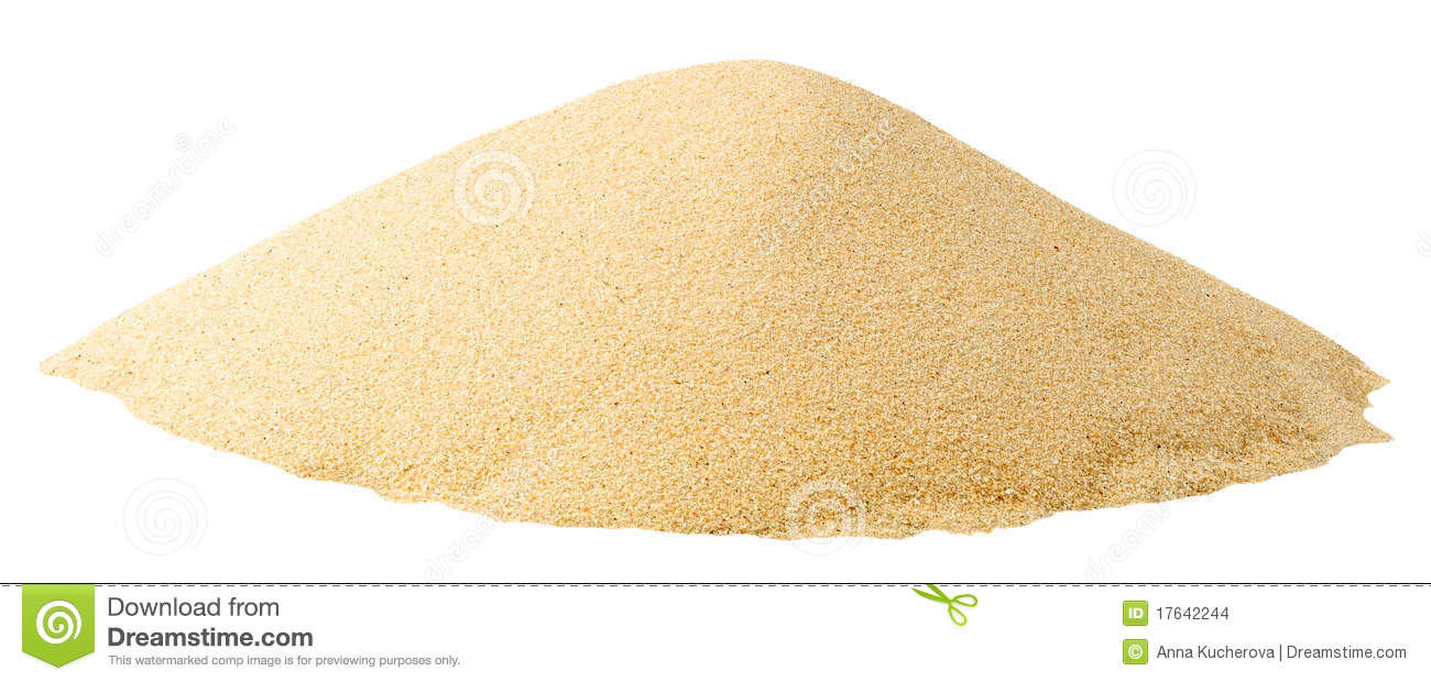 Isolated pile of sand
