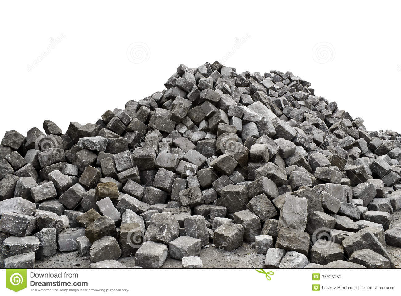 Pile Of Stones - White Background Stock Photo - Image of ...
