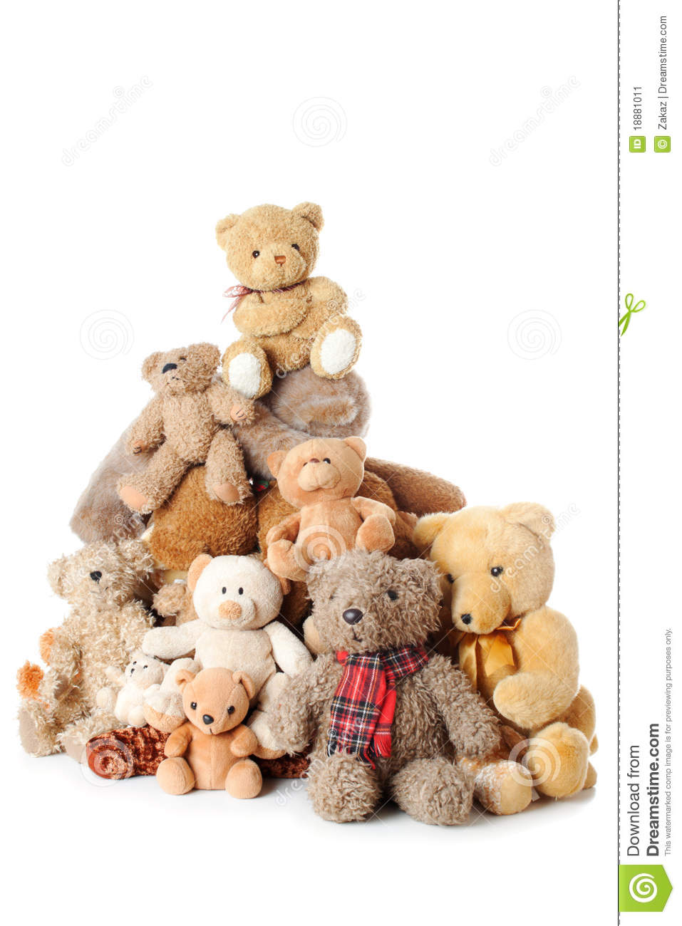 Pile Of Teddy Bears | Isolated Stock Image - Image of ...
