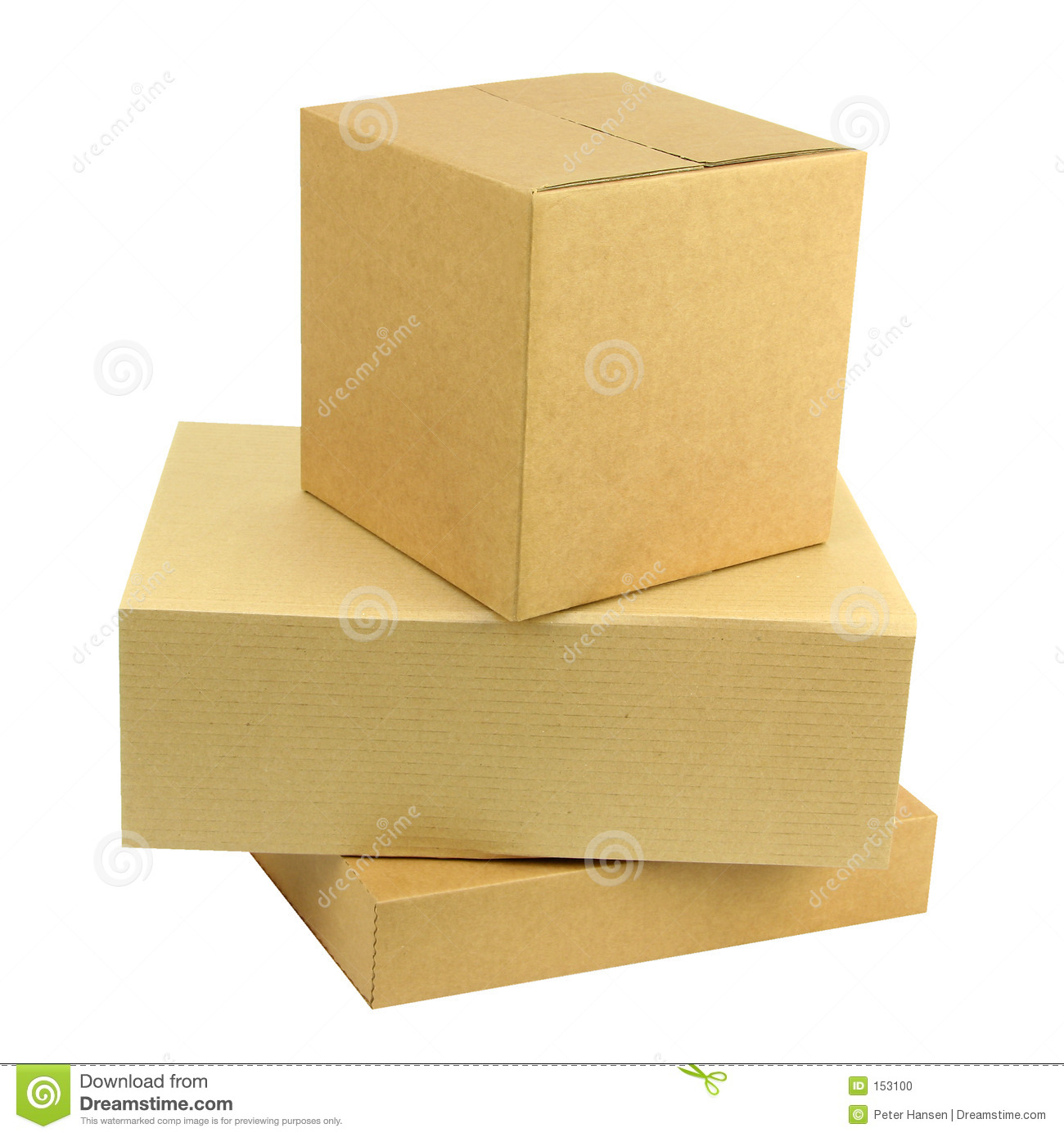 Pile of three boxes stock photo image clipping gift