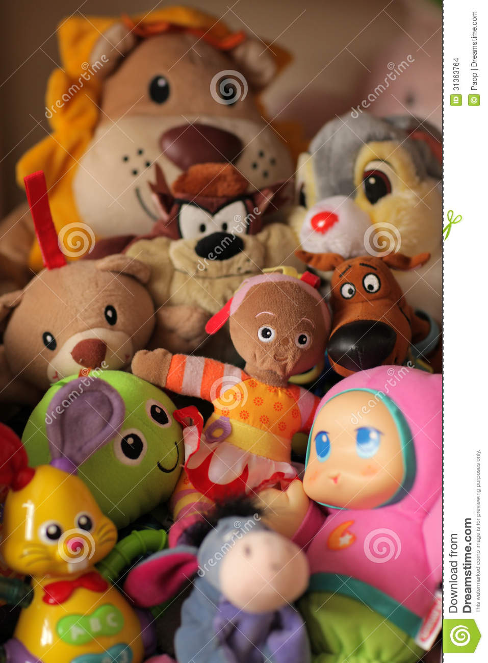 pile of toys stock images