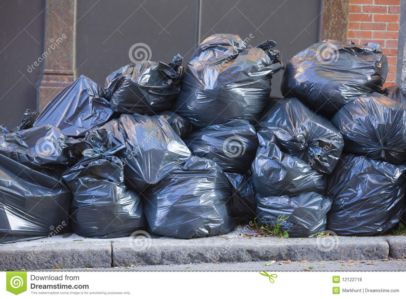 Pile Of Trash Bags Royalty Free Stock Photos - Image: 12122718