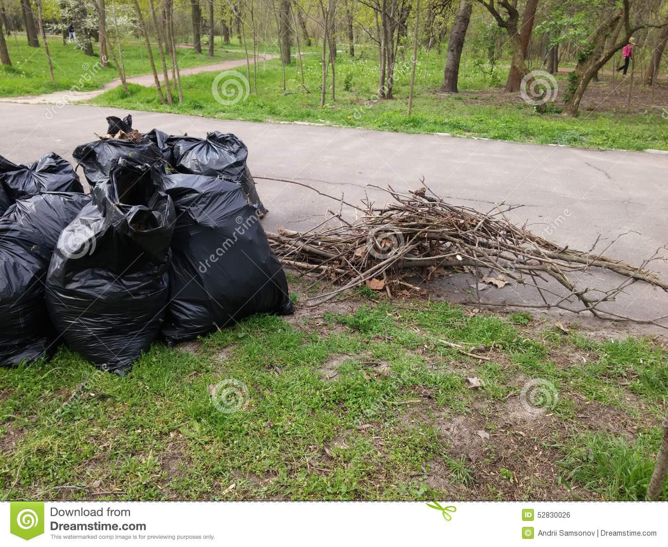 Pile Of Trash Bags Stock Photo - Image: 52830026