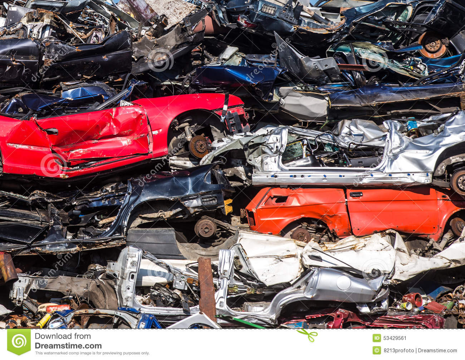 Pile Of Used Cars, Car Scrap Yard Stock Image - Image of broken ...