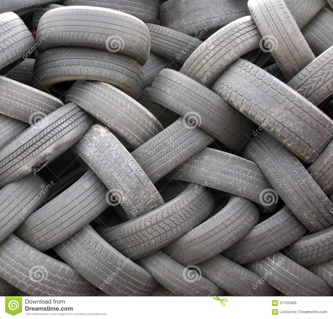 A Pile of Used Discarded Tires.