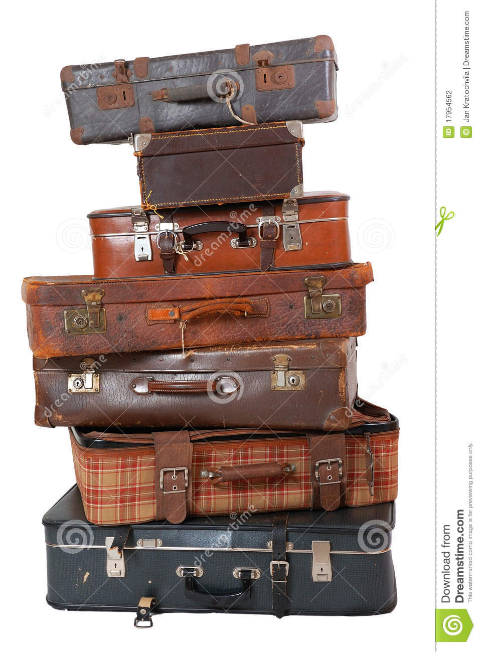 Pile Of Vintage Luggage Stock Photography - Image: 17954562