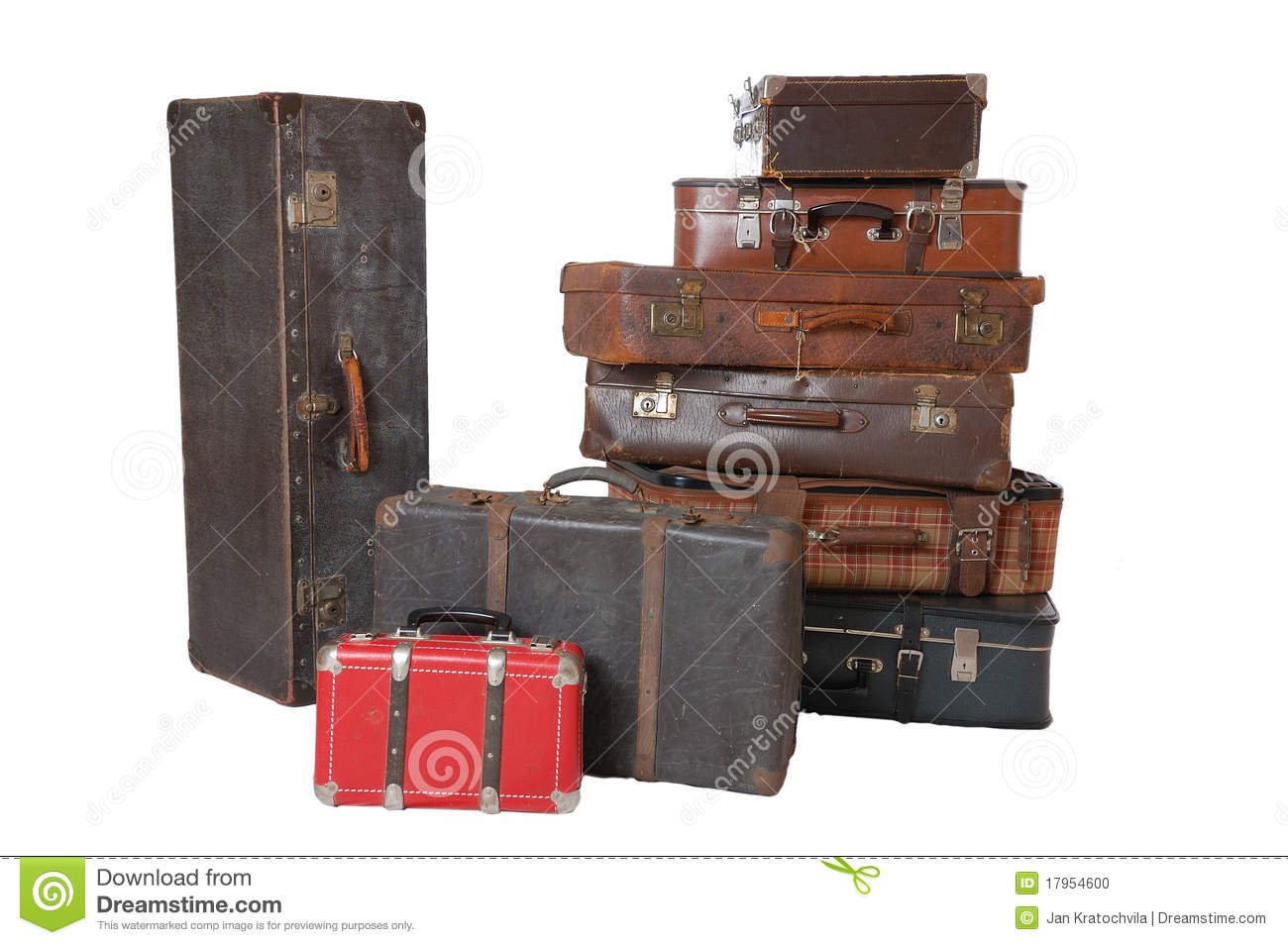 Pile of vintage luggage stock photo image of leather for What to do with vintage suitcases