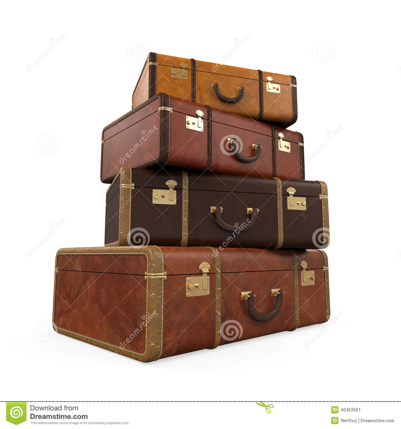 Pile of vintage suitcases stock photo image 40453561 for What to do with vintage suitcases