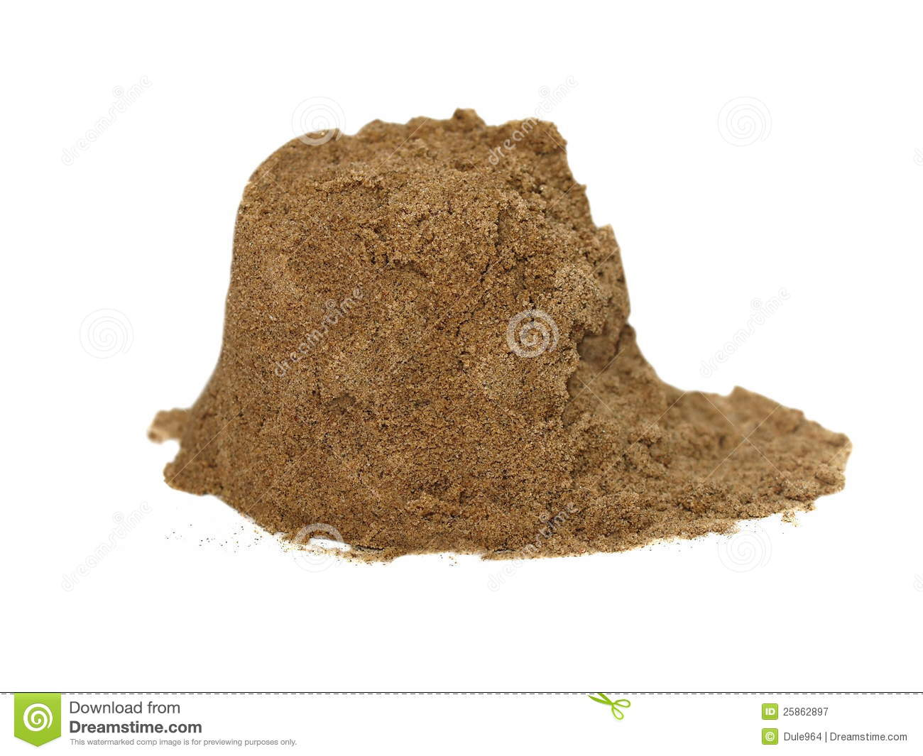 Pile Of Wet Sand Isolated On White Royalty Free Stock Photography ...