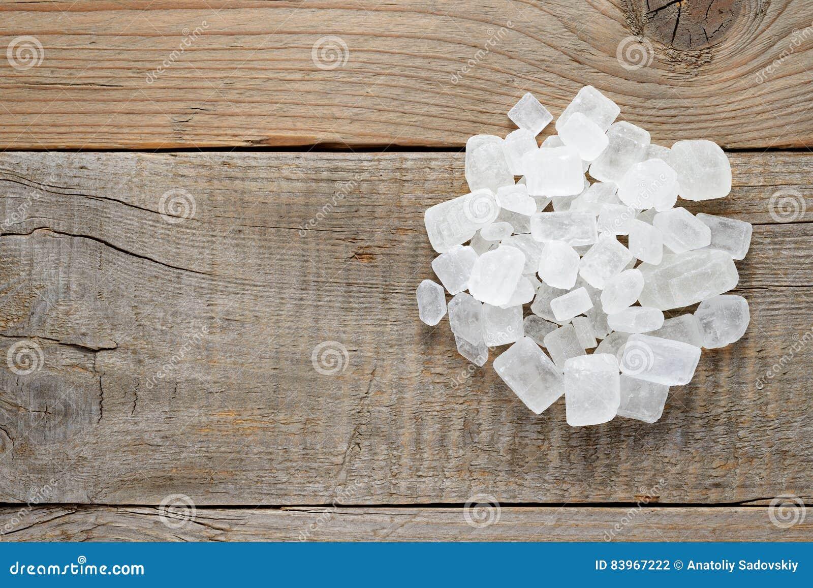 Pile of white rock sugar