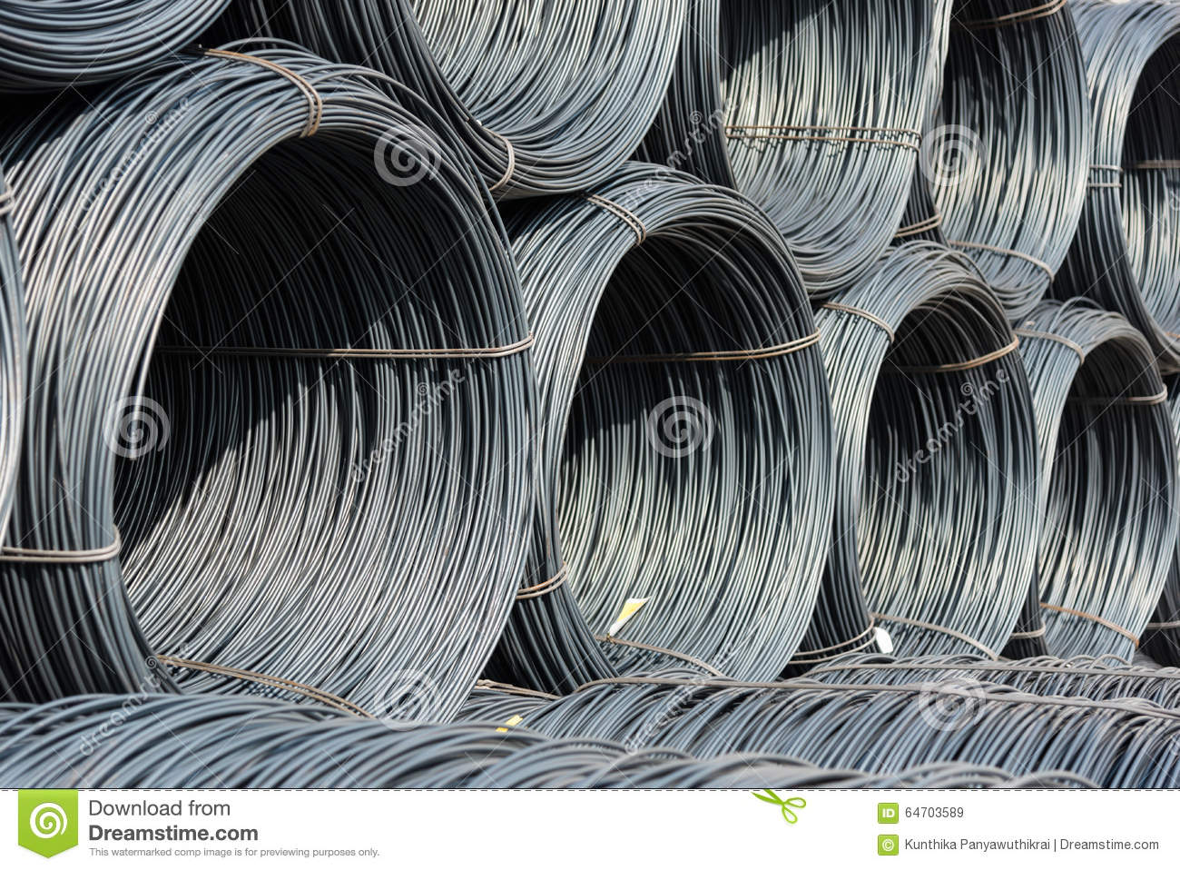 Pile Of Wire Rod Or Coil For Industrial Usage Stock Image - Image of ...