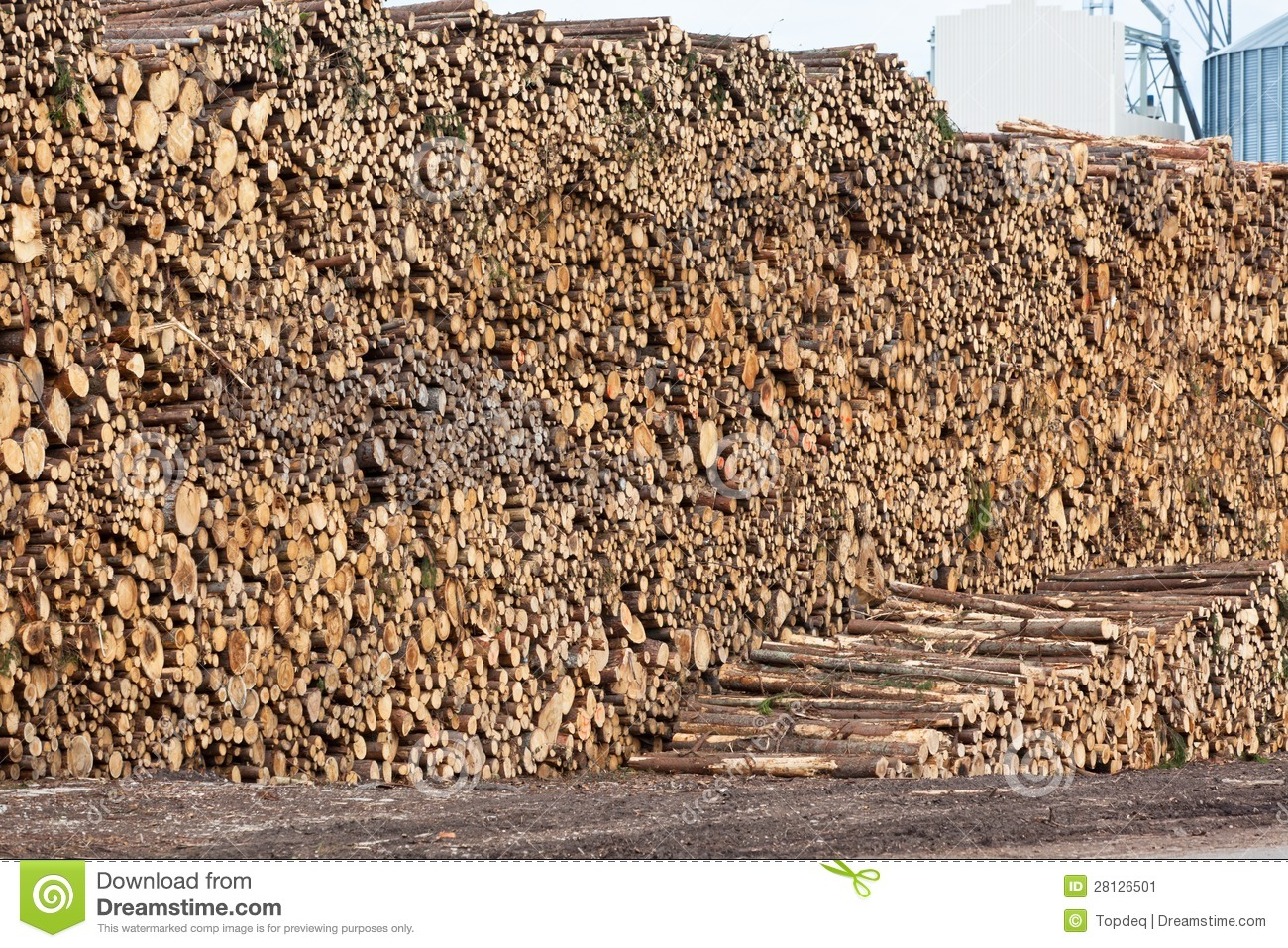 Pile of wood stock image processing color