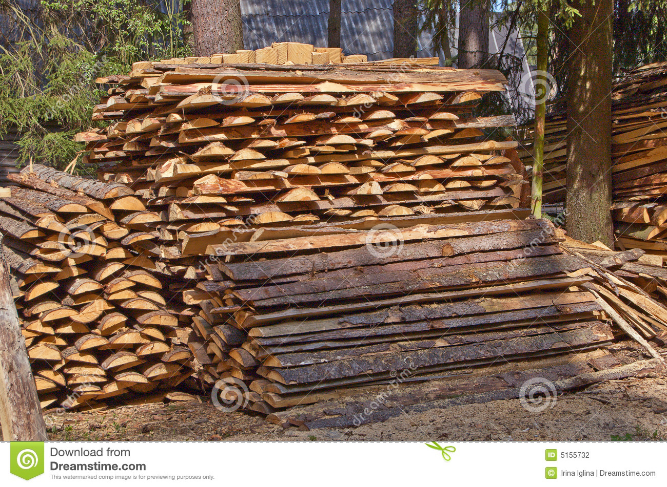 Pile Of Timber : Pile of wood stock photography image