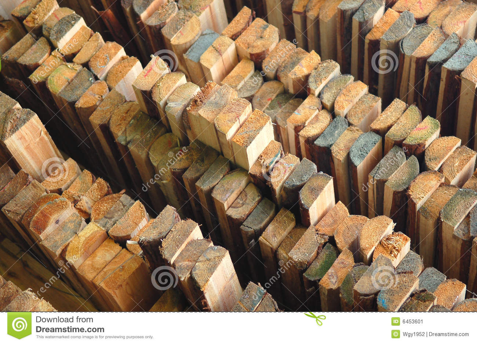 Pile Of Wood Stock Image Image 6453601
