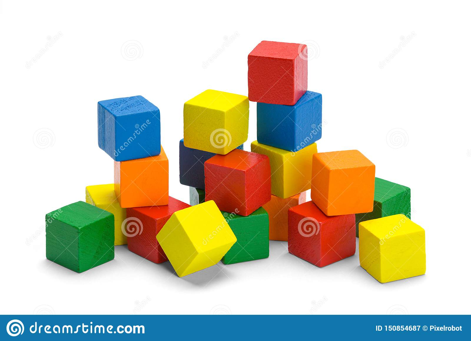 Pile of Wood Blocks