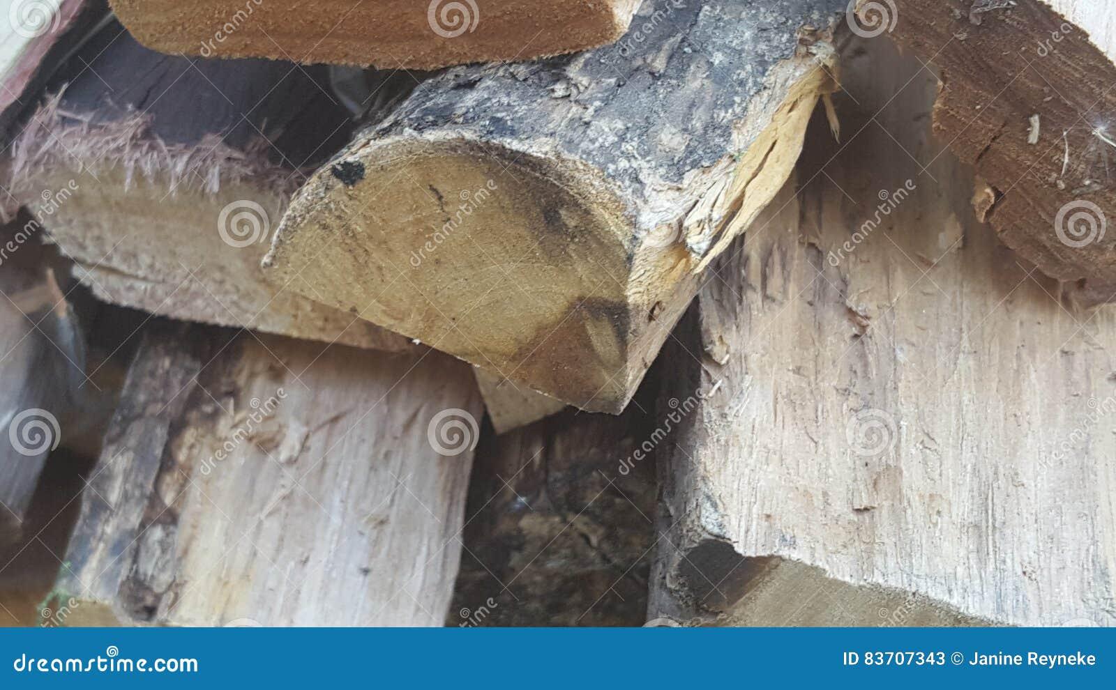 Pile Of Wood. Stock Photo